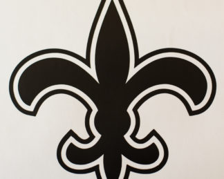 Saints Fleur De Lis Football Decal