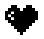geekcals 8bit hearts vinyl decal design your space