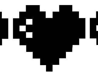 8-bit heart decals
