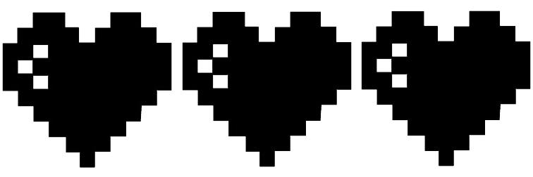 8 bit heart decals