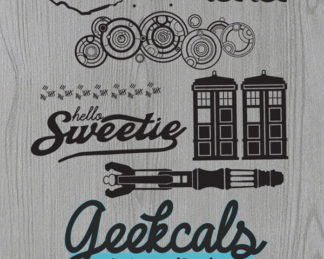 Doctor Who Mixer Vinyl Decal Set