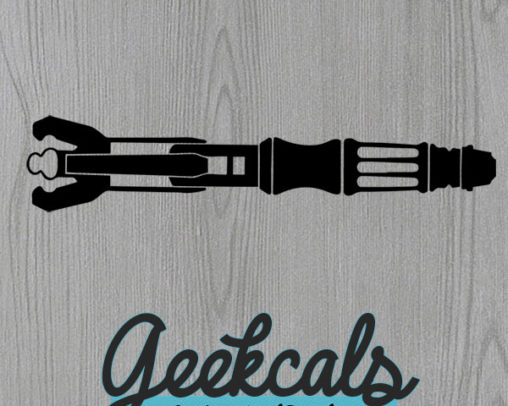 Sonic Screwdriver Vinyl Wall Decal