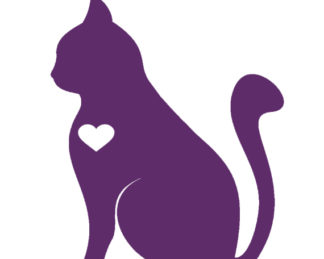 Cat Silhouette with Heart
