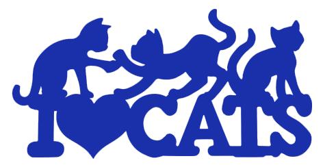 I Love Cats Wall & Car Decals