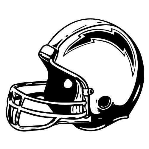 San Diego Chargers Helmet Decals: San Diego Chargers Helmet