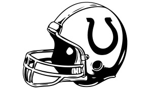 Indianapolis Colts Car Decal