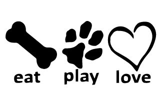 Eat Play Love Decal