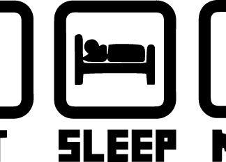Eat Sleep Mine Vinyl Decal