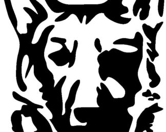 German Shepard Head Silhouette Decal