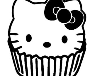 Hello Kitty Cupcake Sticker