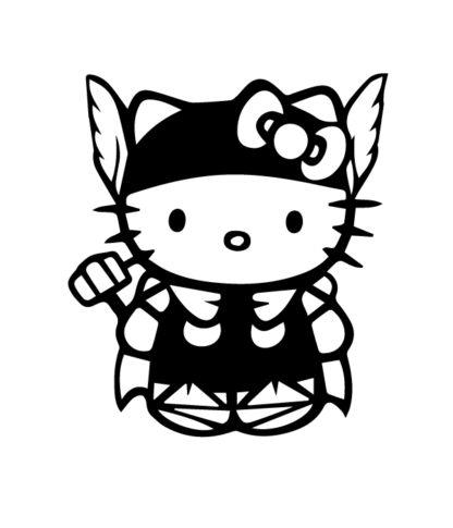 Hello Kitty Thor Sticker
