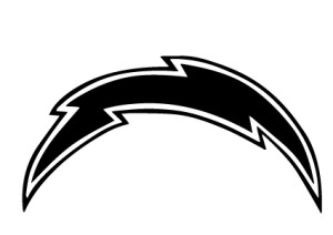 San Diego Chargers Bolt Vinyl Decal