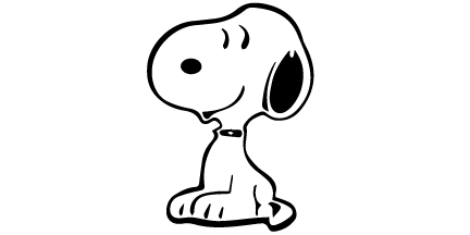 Smiling Snoopy Sticker