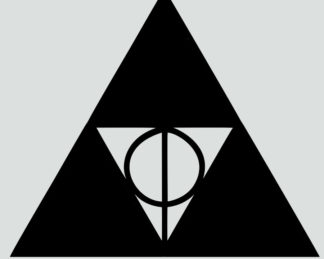 Triforce Deathly Hallows Sticker