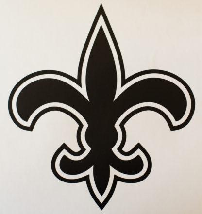 Saints Fleur De Lis Football Decal
