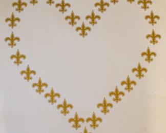 Gold Fleur De Lis Heart