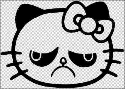 Hello Kitty Angry Cat