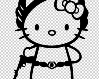 Hello Kitty Princess Leia Decal
