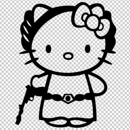 Hello Kitty Princess Leia Decal