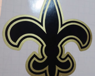 Fleur De Lis Black & Gold Decal