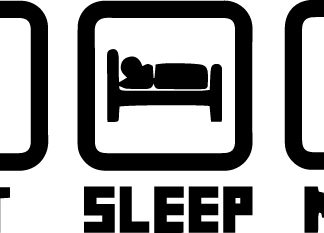 Eat Sleep Mine Vinyl Decal