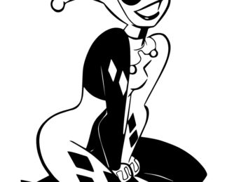 Harley Quinn Kneeling Sticker