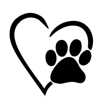 Heart Paw Animal Love Decal