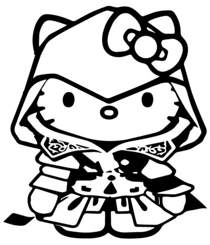 Hello Kitty Assassins Creed Decal