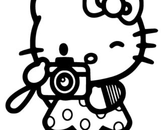 Photographer Hello Kitty Sticker