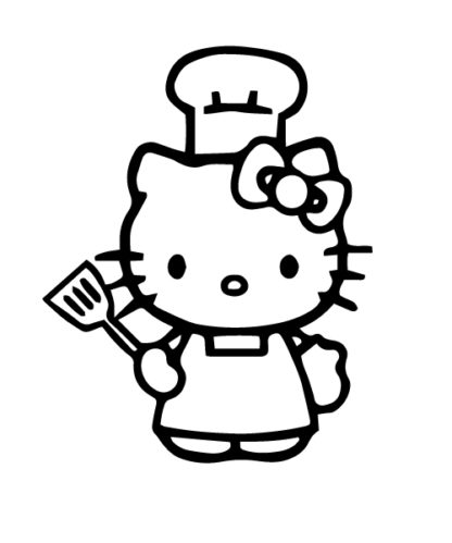 Chef Hello Kitty Sticker