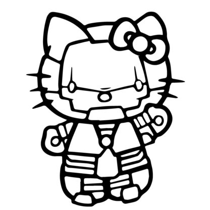 Hello Kitty Iron Man Sticker
