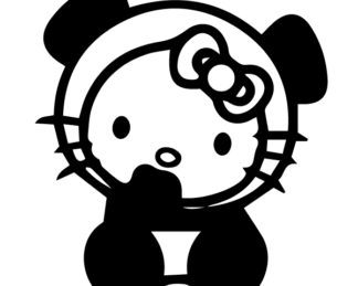 Hello Kitty Panda Baby Decal