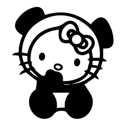 Hello Kitty Panda Baby Decal