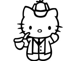 Hello Kitty Sherlock Holmes Decal