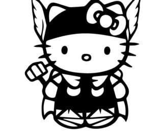Hello Kitty Thor Sticker
