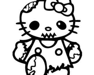 Hello Kitty Zombie Sticker