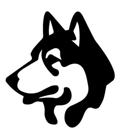 Husky Head Vinyl Decal