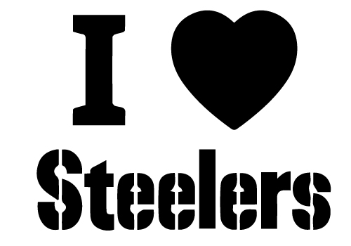 Geekcals I Heart Steelers Decal Design Your Space