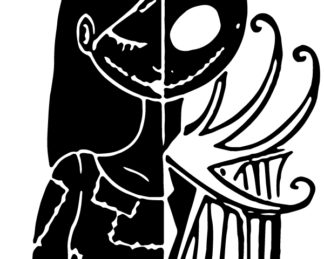 Jack and Sally Mashup Car Decal