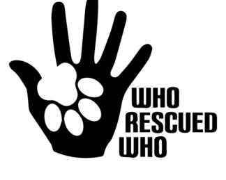 Who Rescued Who Car Decal
