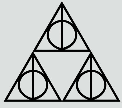 Triforce Deathly Hallows Outline Sticker