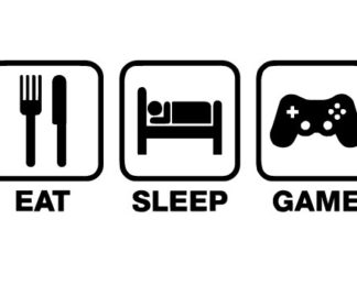 Eat Sleep Game Vinyl Decal