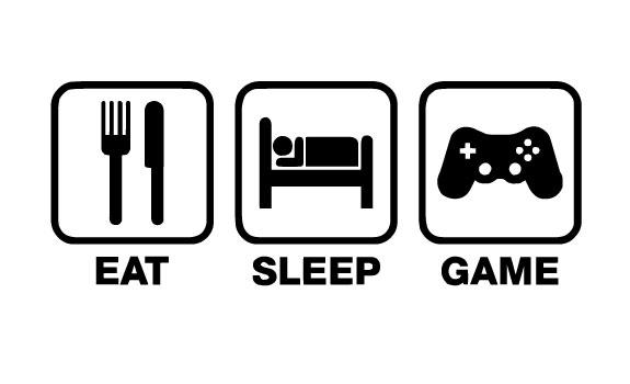 EAT SLEEP PLAY VINYL STICKER