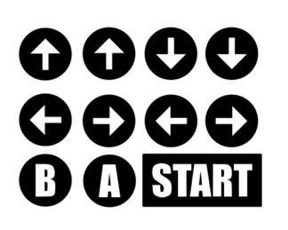 Konami Code Vinyl Sticker