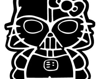 Hello Kitty Darth Vader Vinyl Decal