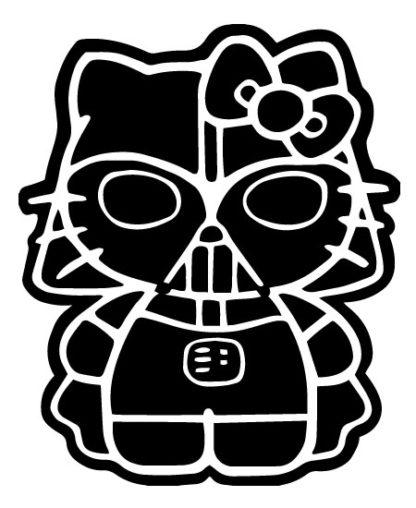 Hello Kitty Darth Vader Vinyl Decal