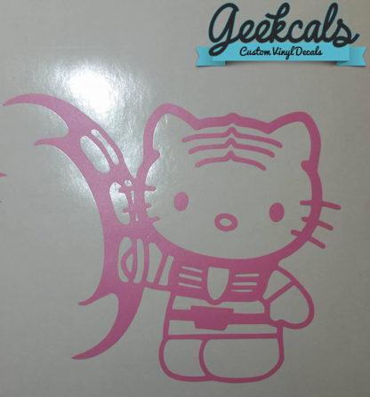 Hello Kitty Klingon Vinyl Decal